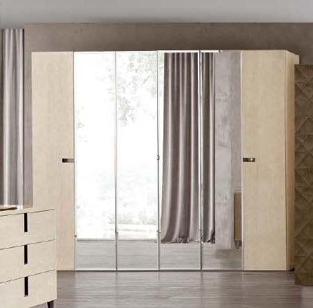 Camel Ambra Italian Hinged Mirror Door Wardrobe