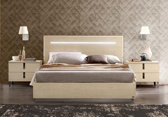 Camel Ambra Letto Italian Luna Storage Bed