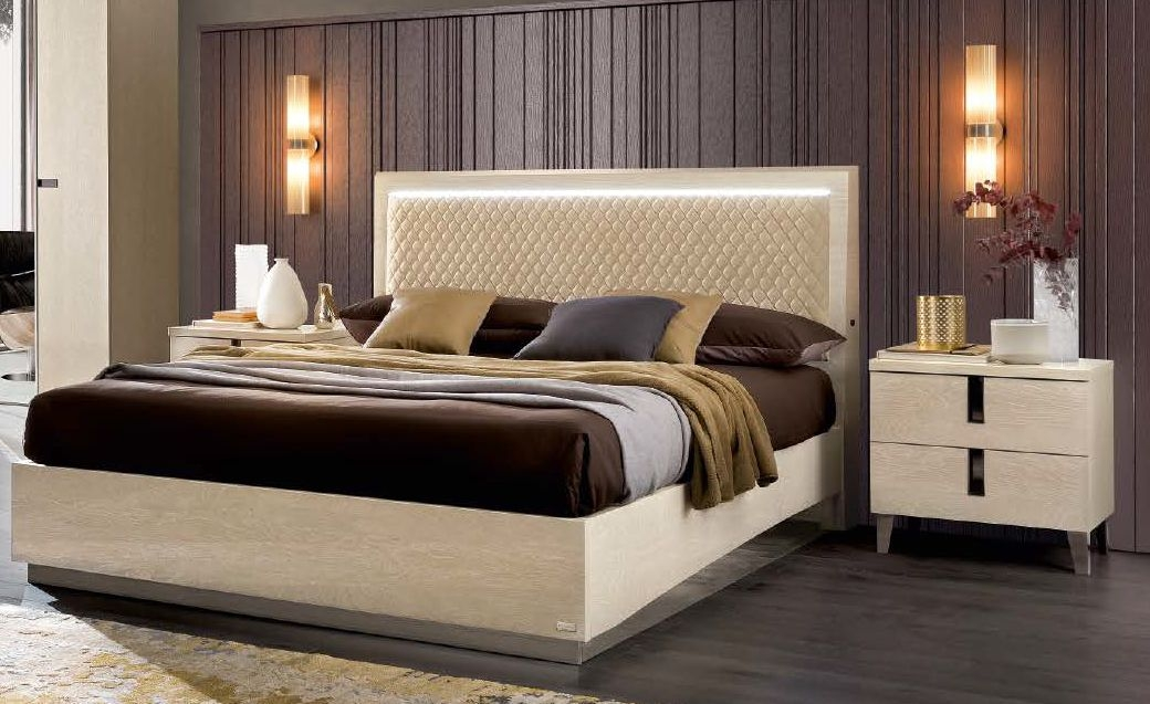 Camel Ambra Letto Rombi italian Bed