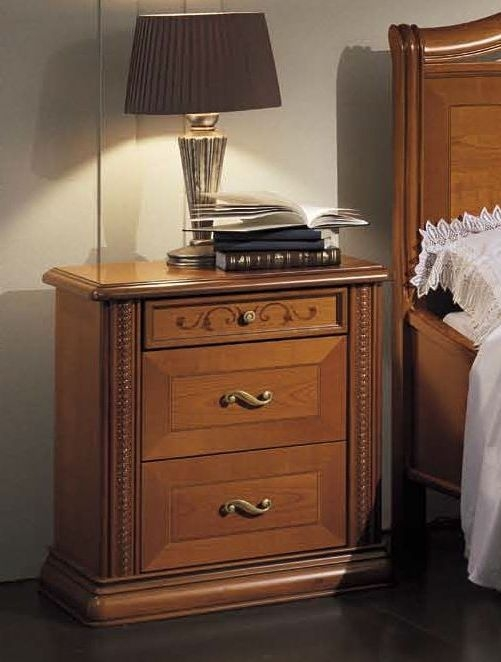 Camel Arena Italian Bedside Table
