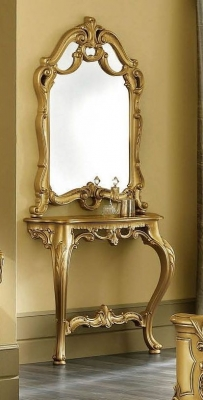 Camel Barocco Mecca Gold Italian Console Table