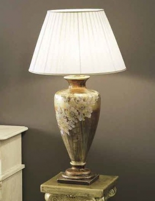 Camel Barocco Italian Mecca Gold with Flowers Lamp