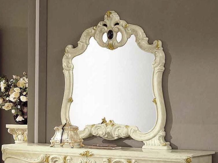 Camel Barocco Ivory Italian Mirror - 107cm x 116cm
