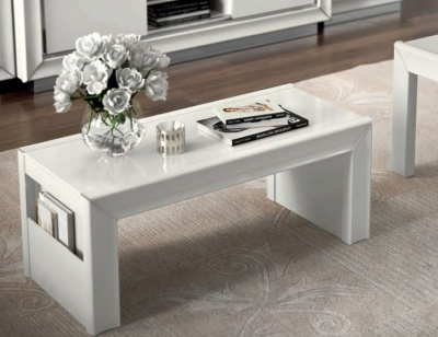Camel Dama Bianca Day White Italian Coffee Table