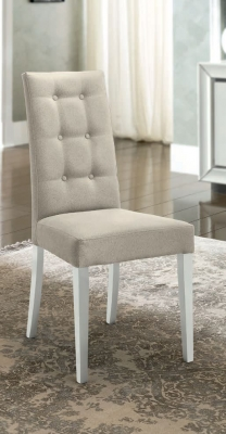 Camel Dama Bianca Day White Italian Fabric Dining Chair (Pair)