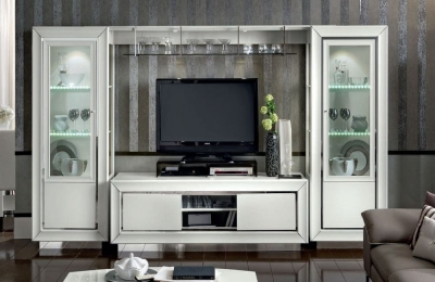 Camel Dama Bianca Day White Italian TV Wall Unit