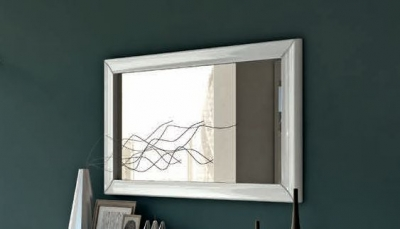 Camel Dama White Italian Mirror - 80cm x 5cm