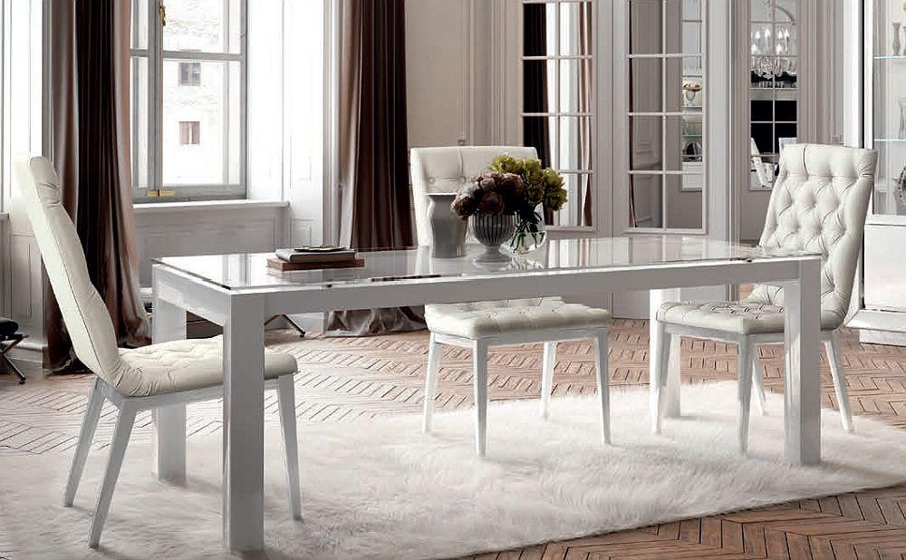 Camel Dama White Italian Extending Dining Table