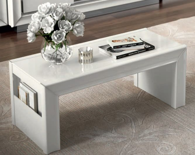 Camel Dama White Italian Tavolino Coffee Table
