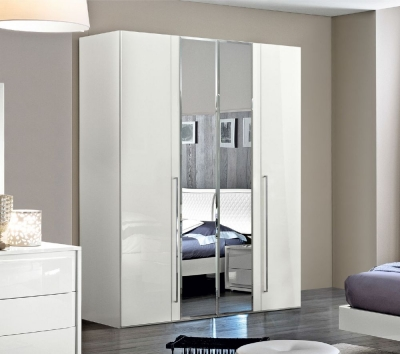 Camel Dama Bianca Night White Italian Mirror Wardrobe