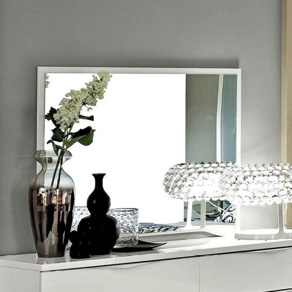 Camel Dama Bianca Night White Italian Mirror - 120cm x 90cm