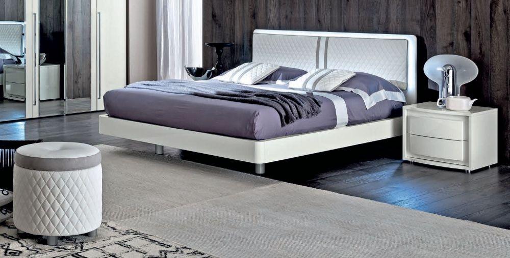 Camel Dama White Italian Bed