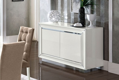 Camel Dama White Italian Buffet - 2 Door