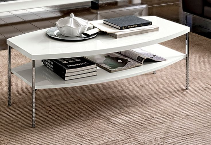 Camel Dama White Italian Coffee Table