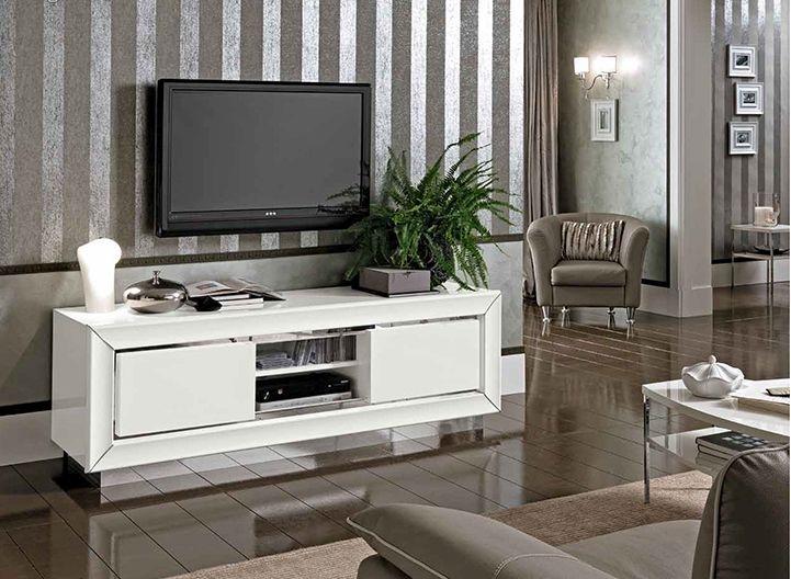 Camel Dama White Italian Maxi Tv Cabinet