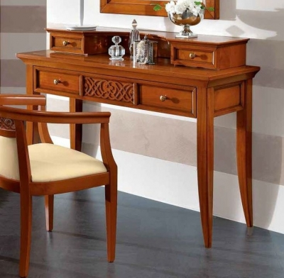 Camel Decor Italian Writing Desk with Drawers