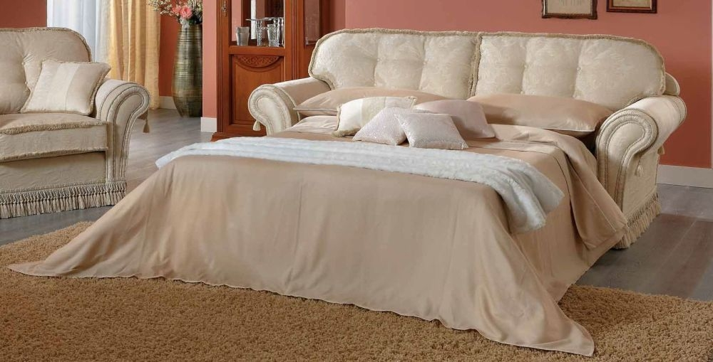 Camel Decor Italian Fabric Sofa Bed