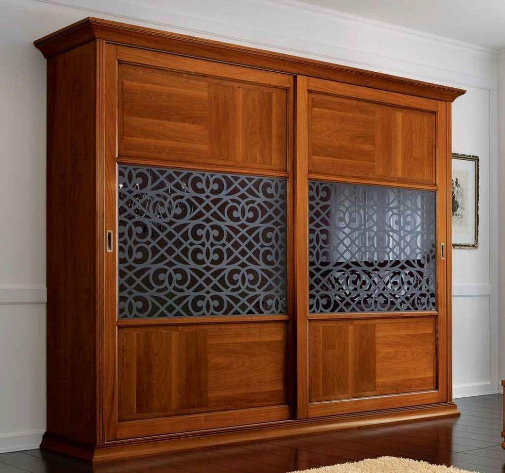 Camel Decor Italian Maxi Wardrobe - Sliding Glass Door