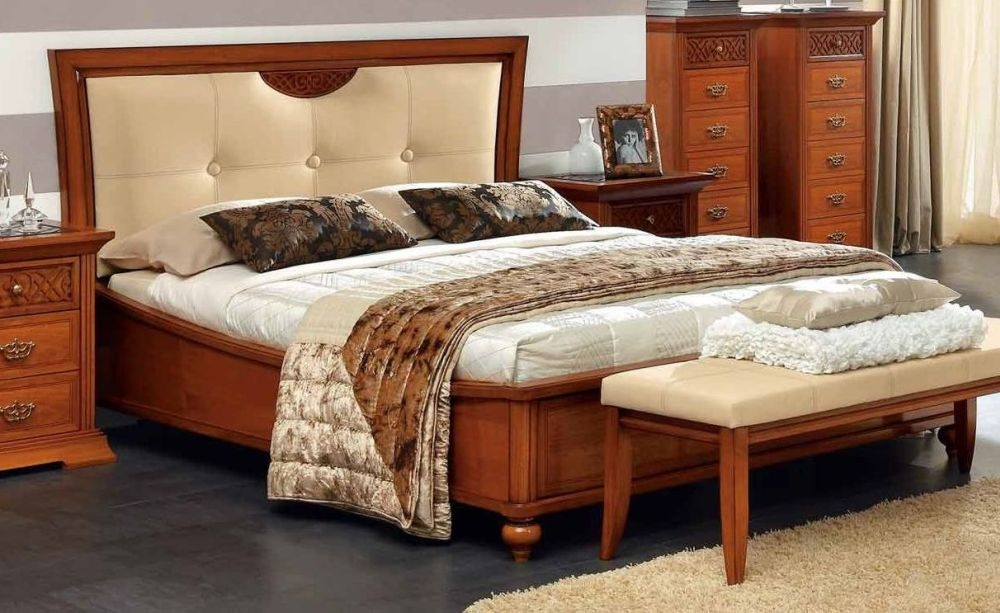 Camel Decor Italian Pelle Ivory Eco Leather Ring Bed