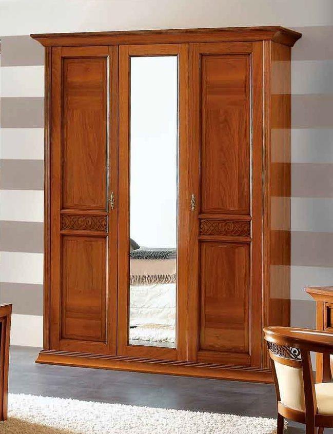 Camel Decor Italian Wardrobe - 3 Door with Mirror