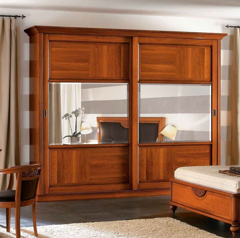 Camel Decor Italian Wooden Maxi Wardrobe - Sliding Door