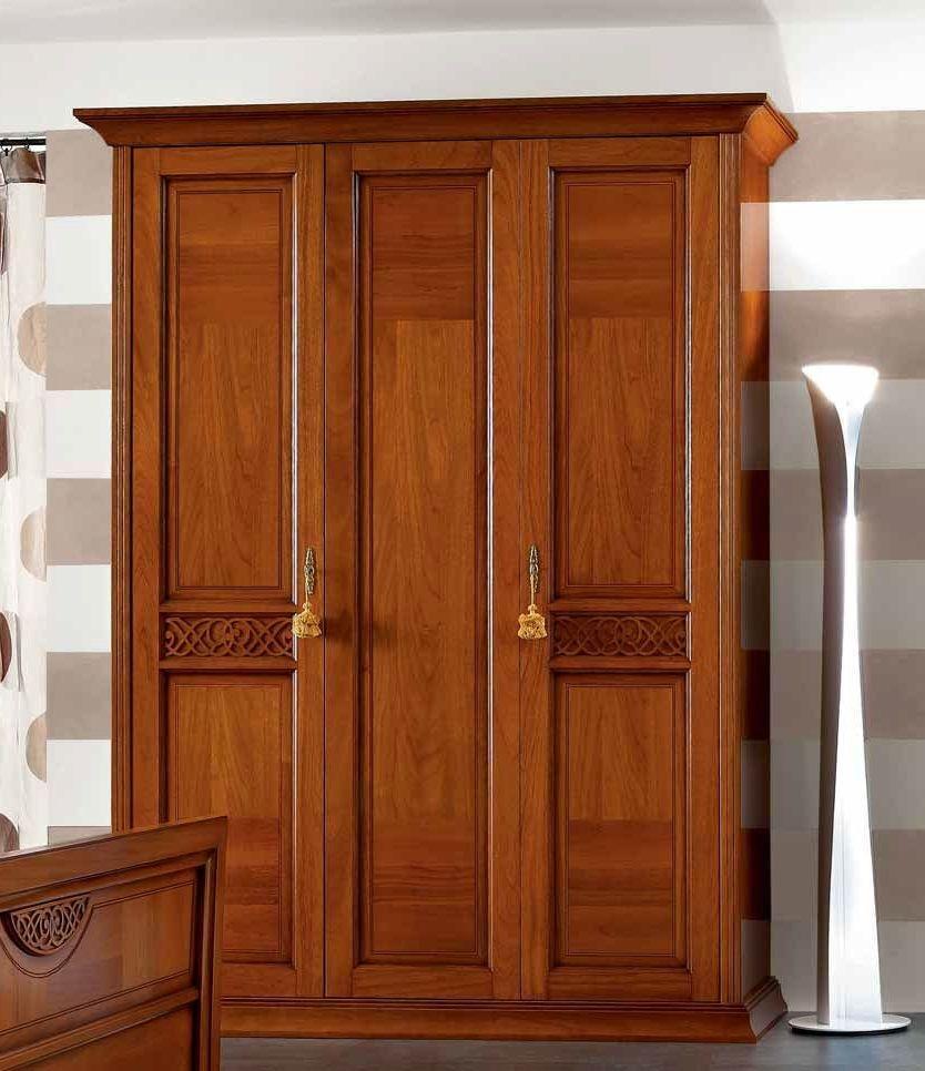Camel Decor Italian Wooden Wardrobe - 3 Door
