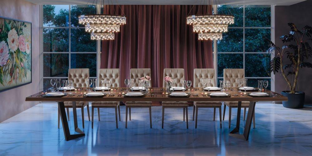 Camel Elite Day Patrician Walnut Italian Net Extending Dining Table