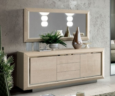 Camel Elite Day Sand Birch Italian Large Buffet Sideboard