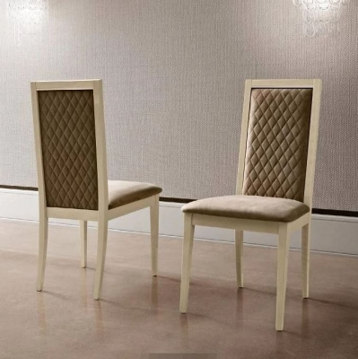 Camel Elite Day Sand Birch Italian Roma Rombi Dining Chair (Pair)