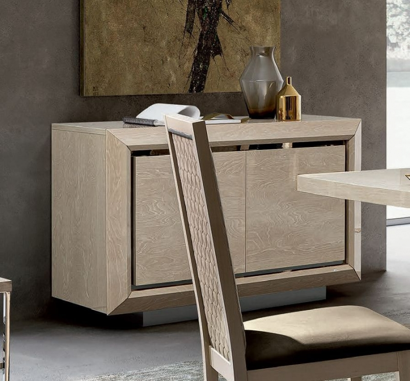 Camel Elite Day Sand Birch Italian Buffet Sideboard