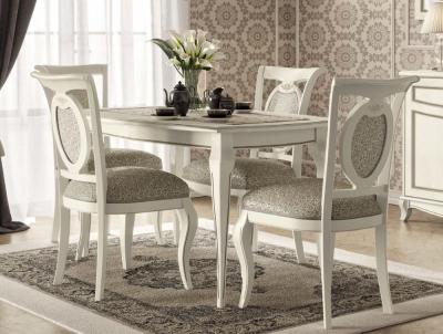 Camel Fantasia Day Antique White Italian 140cm Rectangular Extending Dining Table