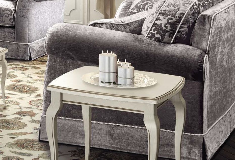 Camel Fantasia Day Antique White Italian Lamp Table