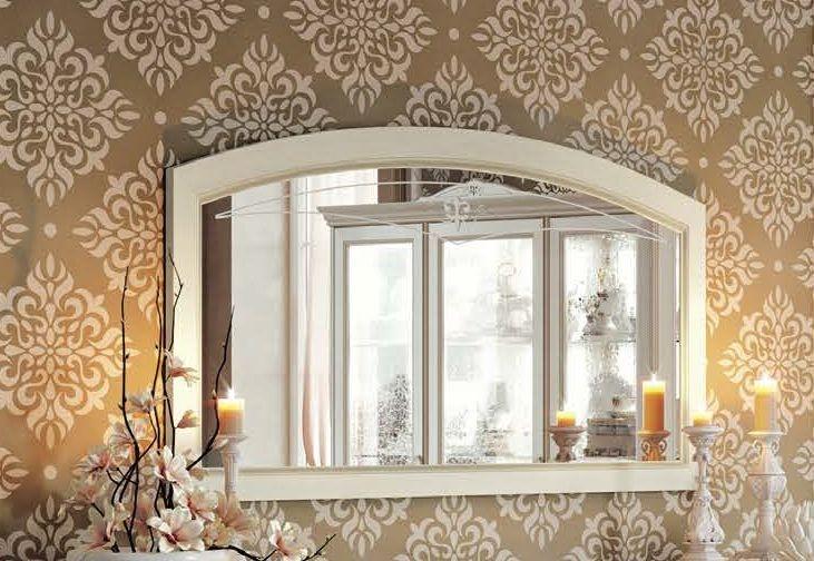 Camel Fantasia Day Antique White Italian Mirror - 140cm x 80cm
