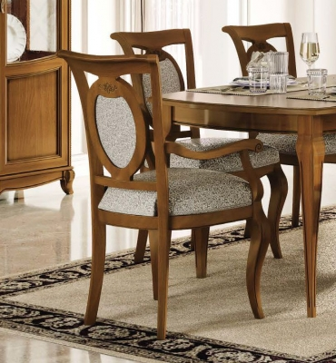 Camel Fantasia Day Walnut Italian Armchair (Pair)