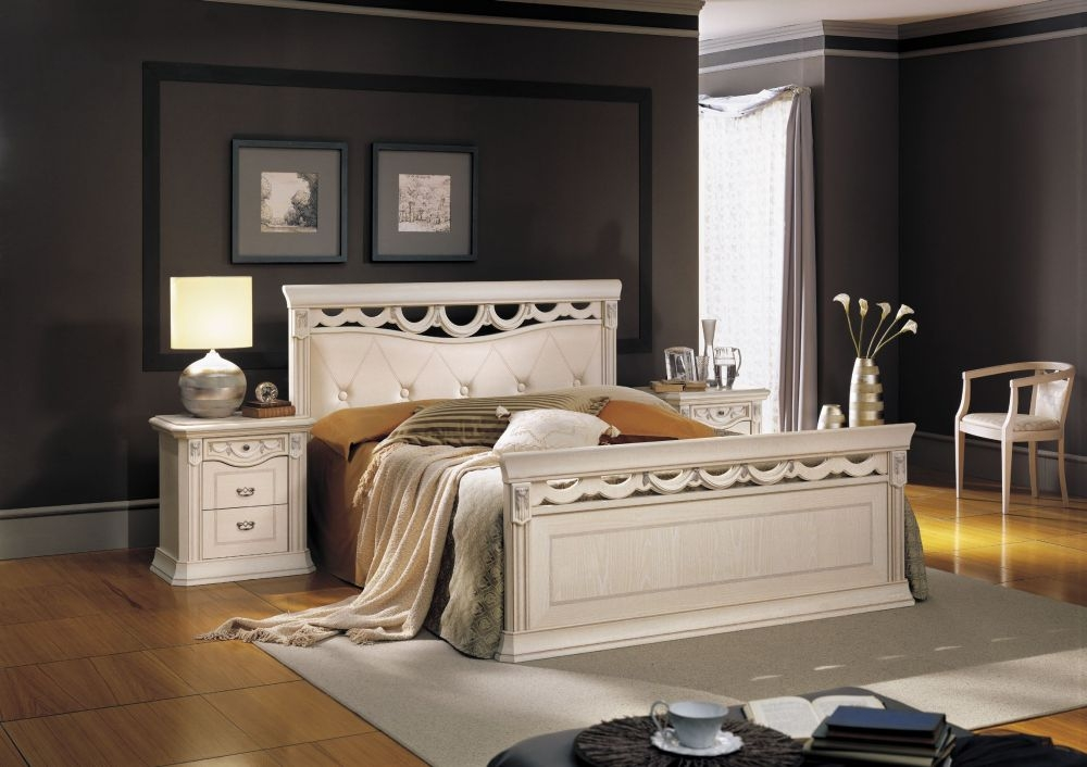 Camel Firenze Italian Ivory Leather Bed