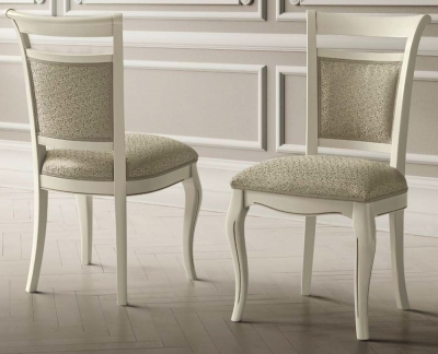 Camel Giotto Day Bianco Antico Italian Vilma Fabric Dining Chair