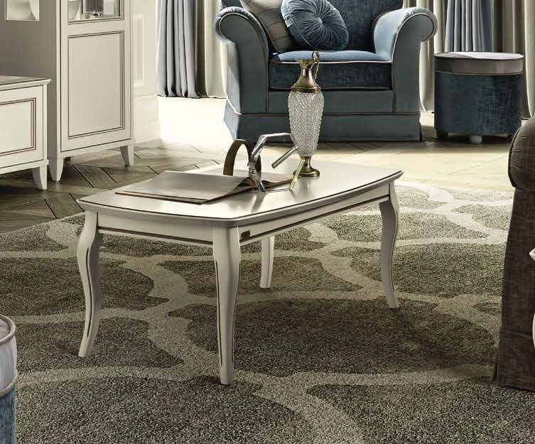 Camel Giotto Day Bianco Antico Italian Coffee Table