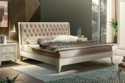 Camel Giotto Night Bianco Antico Italian Bed with Storage