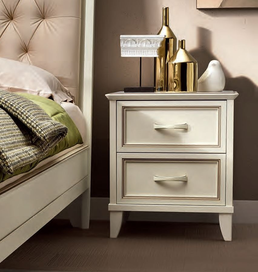 Camel Giotto Night Bianco Antico Italian Bedside Cabinet