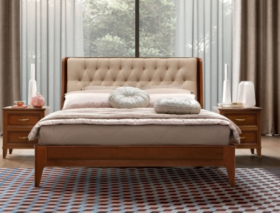 Camel Giotto Night Walnut Italian Bed