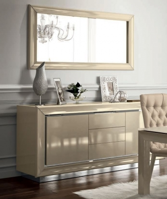 Camel La Star Day Ivory Italian Large Buffet Sideboard