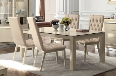 Camel La Star Day Ivory Italian Extending Dining Table