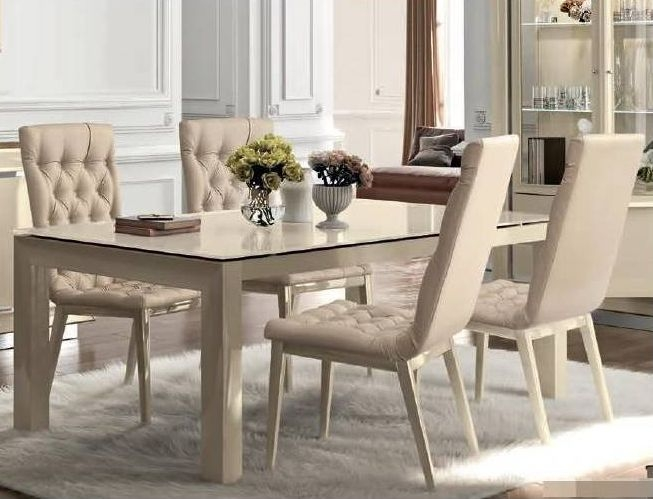 Camel La Star Day Ivory Italian Extending Large Dining Table