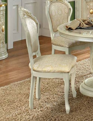 Camel Leonardo Day Ivory and Gold Italian Dining Chair