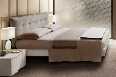 Camel Luna Night White Ash Italian Urano Bed with Storage