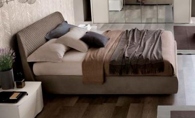 Camel Luna Night Eco Nabuk Leather Italian Kleo 5ft King Size Bed