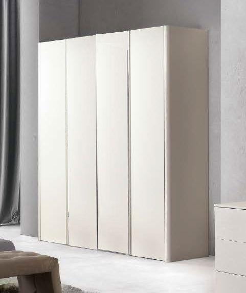 Camel Luna Night White Ash Italian 4 Door Wardrobe