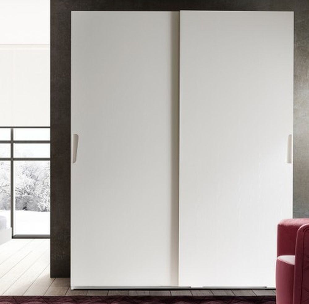 Camel Luna Night White Ash Italian Sliding Wardrobe