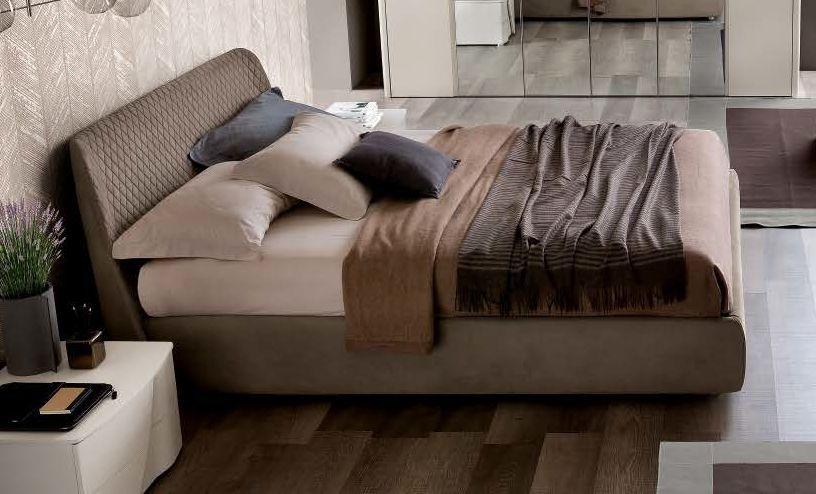 Camel Luna Night Eco Nabuk Leather Italian Kleo 6ft Queen Size Bed