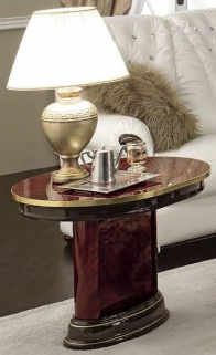Camel Luxor Mahogany Italian Lamp Table